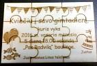 Kvietimas medinis puzzle